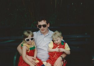 Dad, Sean, and Me at the Magic Kingdom (See I told you we had matching outfits)