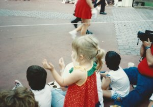 Me watching the parade at the Magic Kingdom