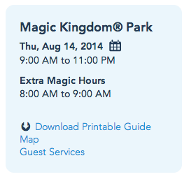 Extra Magic Hours available