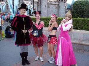 Myself and Kim with Princess Aurora and Prince Phillip