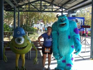 Me with Mike and Sully- 2012 Disney Marathon