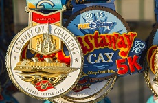 Castaway Cay 5k and Challenge Medals