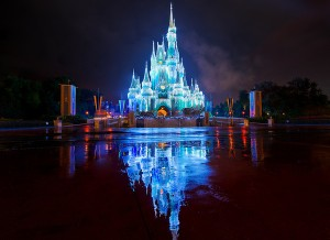 Cinderella Castle with Christmas Lights