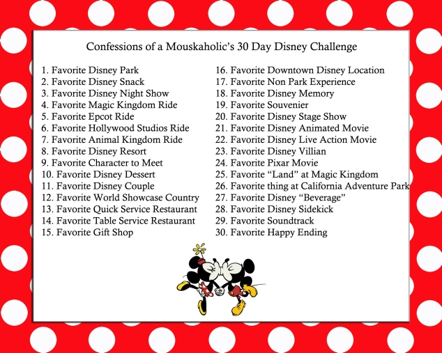 Confessions of a Mouskaholic's 30 Day Disney Challenge
