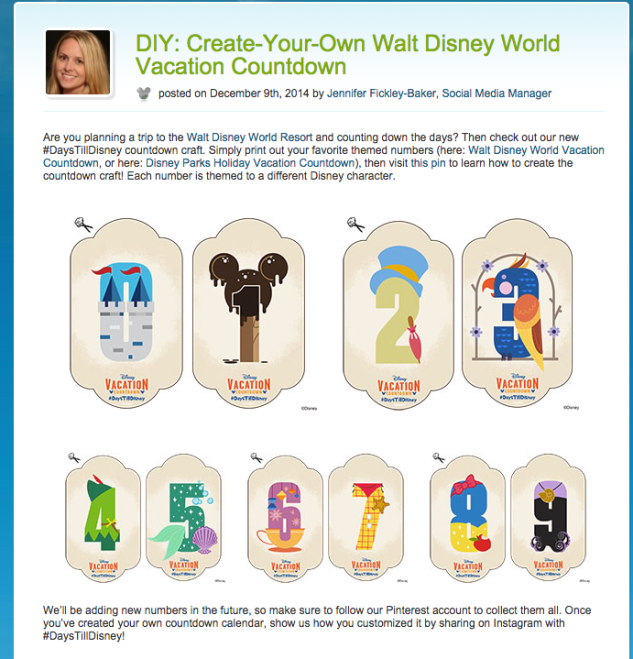 Disney Parks Blog #DaysTillDisney