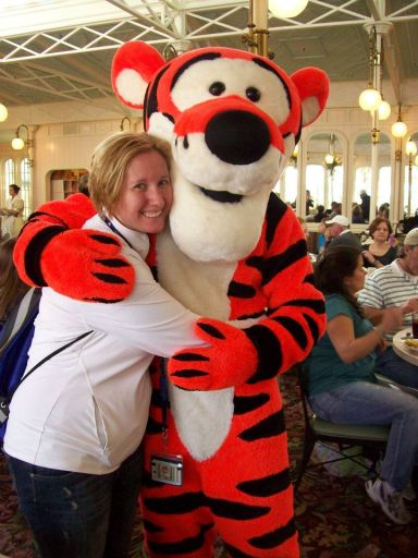 Me with Tigger at the Crystal Palace (Day before my 2nd Disney marathon!)