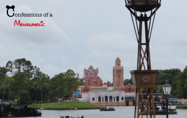 Tower of Terror as seen from World Showcase Lagoon